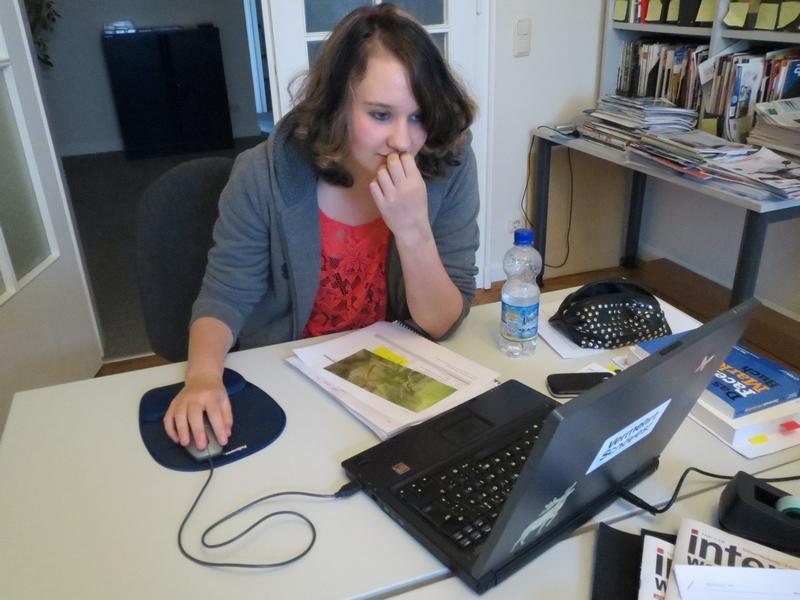 Jana bei der Arbeit - ein Anblick, den wir ab Montag vermissen werden!