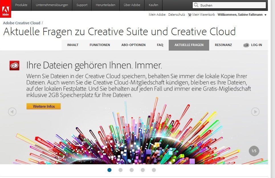 """Die Creative Cloud von Adobe: """"Ihre Daten gehören Ihnen. Immer."""""""
