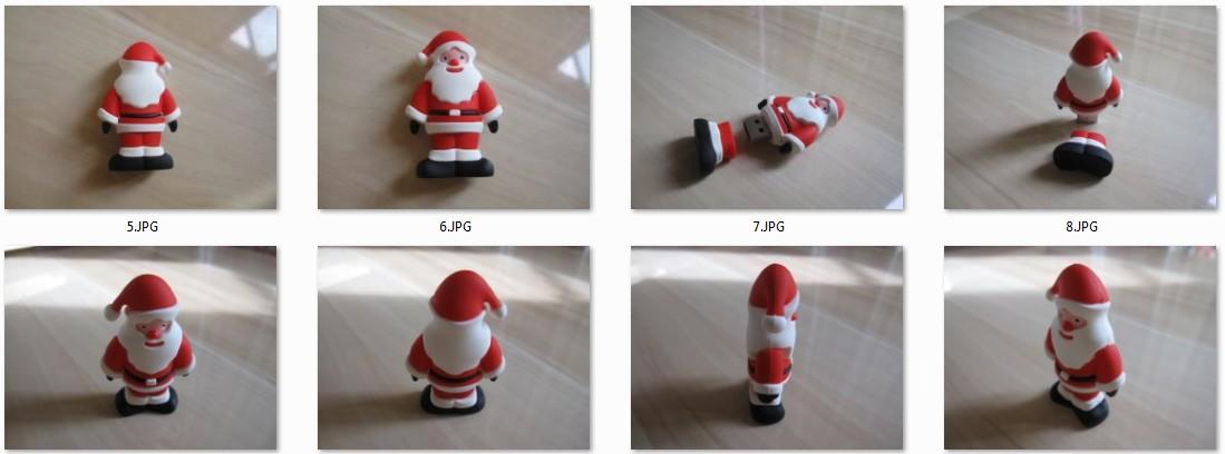3D USB Flash Drive im Santa-Claus-Design