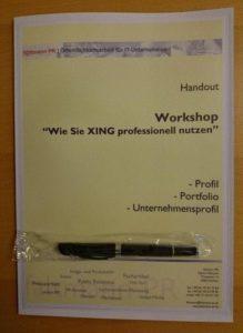 """Handout für den Workshop """"XING professionell nutzen"""""""