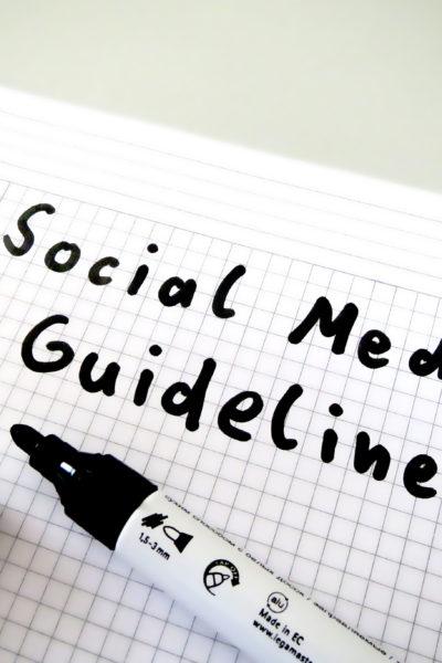 Social Media Guidelines ganz einfach