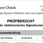 Signature-Check Prüfbericht für elektronische Signaturen