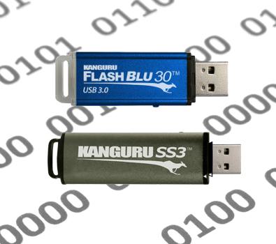USB-Sticks mit Schreibschutz: Kanguru FlashBlu30 und SS3 gehören zu den schnellsten Speicher-Sticks auf dem Markt