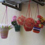 Bunte Blumen in Lissabon