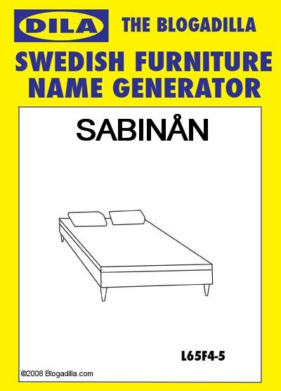 Schmu: Swedish Furniture Name Generator