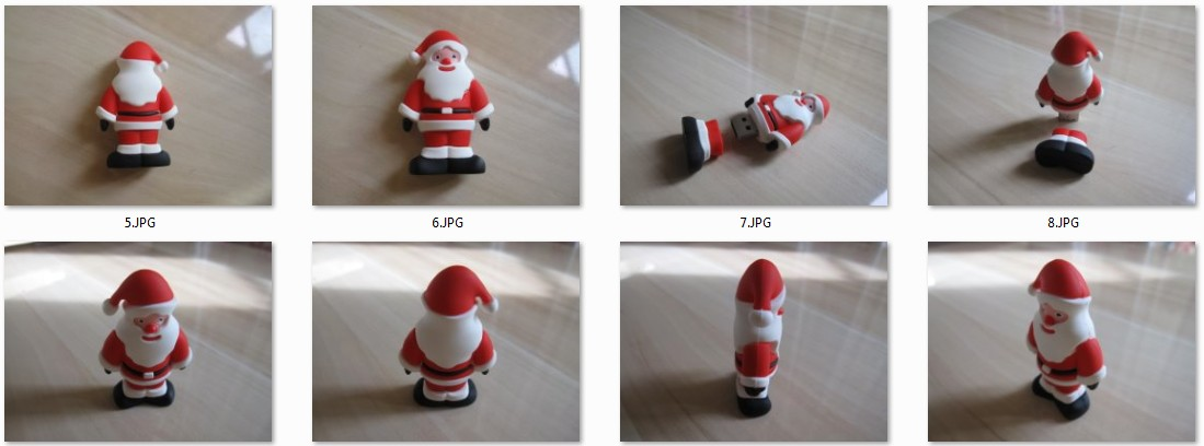3D USB Flash Drive im Santa-Claus-Design