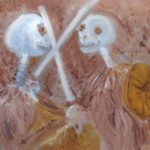 Cain und Abel als Ölbild