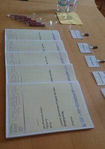 Tagungsunterlagen, Stifte und Batches