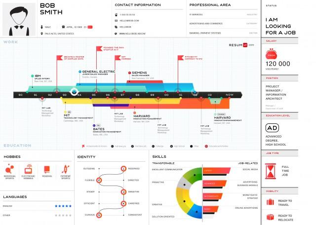 infografk als bewerbung - Ausergewohnliche Bewerbung