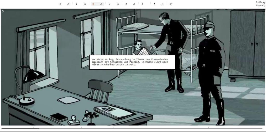 Der Spiegel brachte eine Scrollytelling-Reportage über das Wüten der Nazis gegen Deutsche in der Form einer Graphic Novel, bei der Audio das dominante Erzählmedium ist.