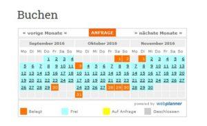 3-Monatsansicht des webplanner