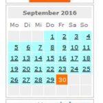 webplanner zeigt einen Monat