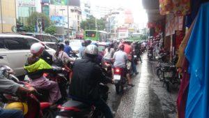 Mopeds von hinten