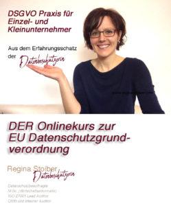 Regina Stoiber präsentiert Onlinekurs DSGVO für Einzel- und Kleinunternehmer