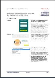 Titelblatt zum Handout Checkliste für Ihren XING-Auftritt