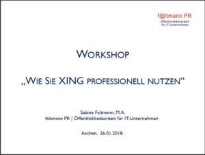 Titelblatt zum letzten Workshop