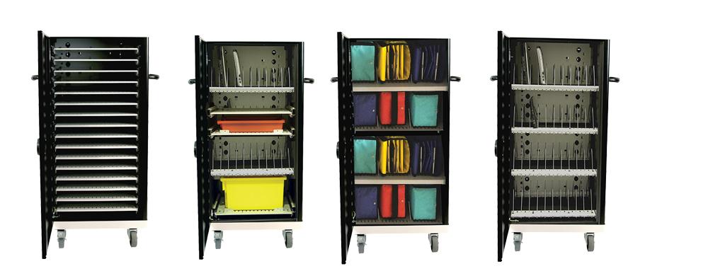 Koffer und Schränke schützen mobile Geräte vor Beschädigung und Diebstahl