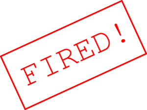 "Stempel ""FIRED!"""